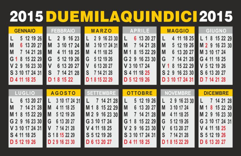 calendario 2015 annuale