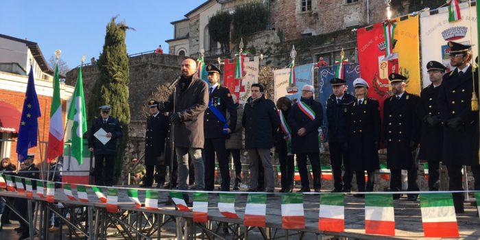 CANTÙ – San Sebastiano, il discorso di Bizzozero alla Polizia Locale