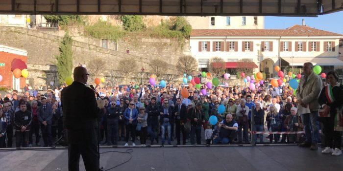 POLITICA – In piazza Garibaldi istituzioni e cittadini contro la criminalità organizzata