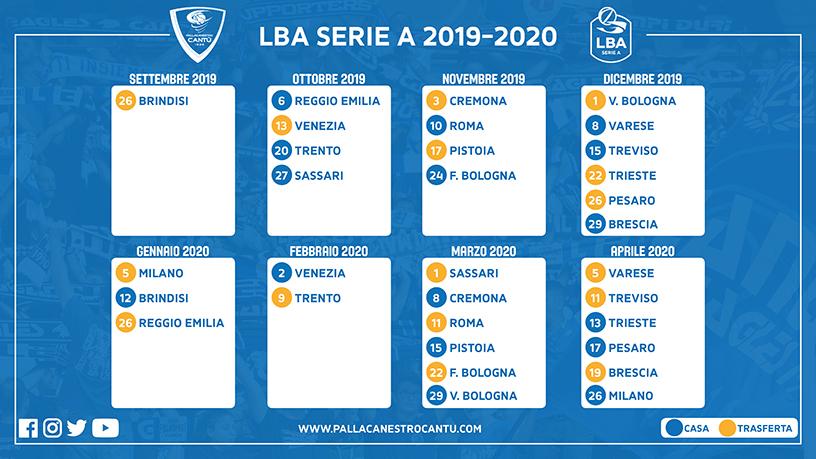 Calendario Forum Assago.Basket La Prima A Brindisi L Ultima Con Milano Ecco Il