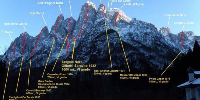 DOLOMITI – Alpinista 34enne canturino perde la presa e cade: in ospedale