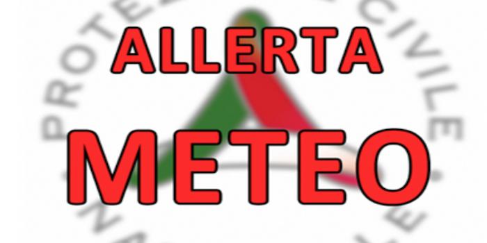ALLERTA METEO – Codice arancione per temporali forti